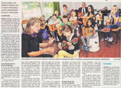 Artikel WZ Jugendorchester