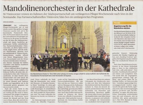 Rheinische Post vom 27.05.2015