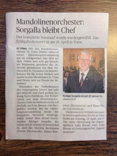 Rheinische Post vom 23.01.2015